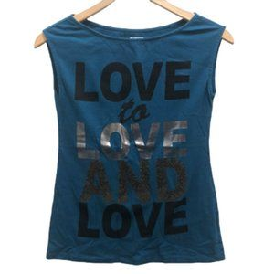 3/$20 Express XS Sleeveless Graphic Tee